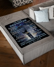 """To Our Daughter Small Fleece Blanket - 30"""" x 40"""" aos-coral-fleece-blanket-30x40-lifestyle-front-03"""