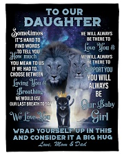 """To Our Daughter Small Fleece Blanket - 30"""" x 40"""" front"""