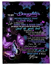 """To My Daughter From Mom - Butterfly Small Fleece Blanket - 30"""" x 40"""" front"""