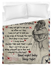 To My Girlfriend 01 Duvet Cover - Twin thumbnail