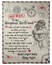 To My Girlfriend 01 Fleece Blanket tile