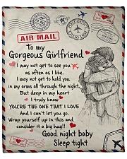 """To My Girlfriend 01 Fleece Blanket - 50"""" x 60"""" front"""