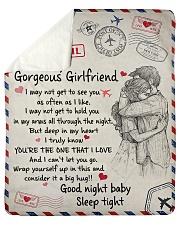 "To My Girlfriend 01 Sherpa Fleece Blanket - 50"" x 60"" thumbnail"