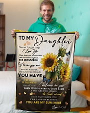 """To My Daughter From Mom -05 -Sunflower   Small Fleece Blanket - 30"""" x 40"""" aos-coral-fleece-blanket-30x40-lifestyle-front-09"""