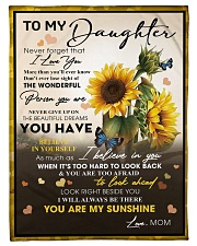 """To My Daughter From Mom -05 -Sunflower   Small Fleece Blanket - 30"""" x 40"""" front"""