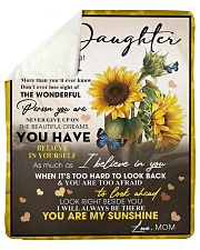"""To My Daughter From Mom -05 -Sunflower   Sherpa Fleece Blanket - 50"""" x 60"""" thumbnail"""