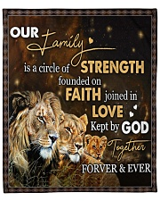 """Our Family - Lion  Fleece Blanket - 50"""" x 60"""" front"""