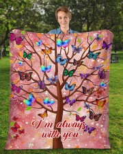"""Butterfly Tree - I'm Always with You Fleece Blanket - 50"""" x 60"""" aos-coral-fleece-blanket-50x60-lifestyle-front-01a"""
