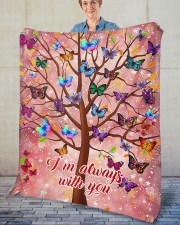 """Butterfly Tree - I'm Always with You Fleece Blanket - 50"""" x 60"""" aos-coral-fleece-blanket-50x60-lifestyle-front-02"""