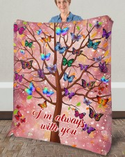 """Butterfly Tree - I'm Always with You Fleece Blanket - 50"""" x 60"""" aos-coral-fleece-blanket-50x60-lifestyle-front-02a"""