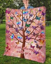 """Butterfly Tree - I'm Always with You Fleece Blanket - 50"""" x 60"""" aos-coral-fleece-blanket-50x60-lifestyle-front-02b"""