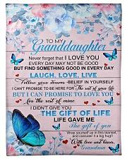 To My Granddaughter From Grandma -Butterfly - 03 Fleece Blanket tile