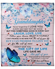 """To My Granddaughter From Grandma -Butterfly - 03 Fleece Blanket - 50"""" x 60"""" front"""