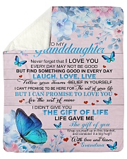 """To My Granddaughter From Grandma -Butterfly - 03 Sherpa Fleece Blanket - 50"""" x 60"""" thumbnail"""