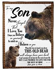 To My Son From Mom - Bear 03 Fleece Blanket tile