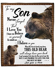 """To My Son From Mom - Bear 03 Fleece Blanket - 50"""" x 60"""" front"""