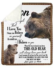 "To My Son From Mom - Bear 03 Sherpa Fleece Blanket - 50"" x 60"" thumbnail"