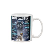 To My Daughter From Mom - Wolf 1 Mug thumbnail