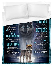To My Daughter From Mom - Wolf 1 Duvet Cover - Twin thumbnail