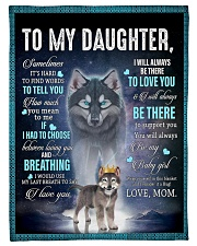 To My Daughter From Mom - Wolf 1 Fleece Blanket tile