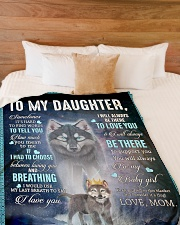 """To My Daughter From Mom - Wolf 1 Large Fleece Blanket - 60"""" x 80"""" aos-coral-fleece-blanket-60x80-lifestyle-front-02"""