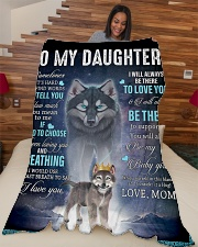 """To My Daughter From Mom - Wolf 1 Large Fleece Blanket - 60"""" x 80"""" aos-coral-fleece-blanket-60x80-lifestyle-front-04"""