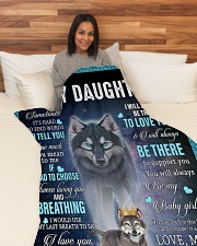 """To My Daughter From Mom - Wolf 1 Large Fleece Blanket - 60"""" x 80"""" aos-coral-fleece-blanket-60x80-lifestyle-front-05"""