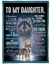 """To My Daughter From Mom - Wolf 1 Large Fleece Blanket - 60"""" x 80"""" front"""