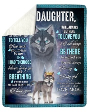 """To My Daughter From Mom - Wolf 1 Sherpa Fleece Blanket - 50"""" x 60"""" thumbnail"""