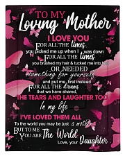 To My Loving Mother from Daughter Comforter - Twin thumbnail