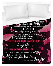 To My Loving Mother from Daughter Duvet Cover - Twin thumbnail