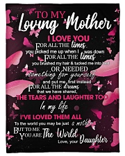 """To My Loving Mother from Daughter Small Fleece Blanket - 30"""" x 40"""" front"""