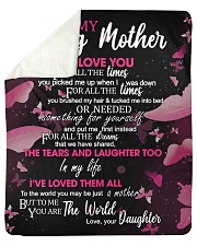 """To My Loving Mother from Daughter Sherpa Fleece Blanket - 50"""" x 60"""" thumbnail"""