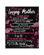 """To My Loving Mother from Daughter Quilt 40""""x50"""" - Baby thumbnail"""