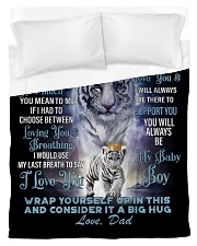To My Son from Dad- Tiger Duvet Cover - Twin thumbnail