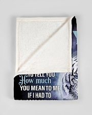 """To My Son from Dad- Tiger Small Fleece Blanket - 30"""" x 40"""" aos-coral-fleece-blanket-30x40-lifestyle-front-17"""