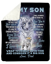 """To My Son from Dad- Tiger Sherpa Fleece Blanket - 50"""" x 60"""" thumbnail"""