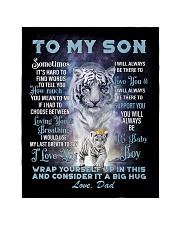 """To My Son from Dad- Tiger Quilt 40""""x50"""" - Baby thumbnail"""