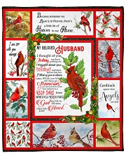 "Because Someone We love Is In Heaven - Cardinals 5 Fleece Blanket - 50"" x 60"" front"
