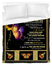 To My Mom from Daughter - Butterfly- 02 Duvet Cover - Twin thumbnail
