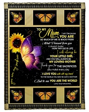 To My Mom from Daughter - Butterfly- 02 Fleece Blanket tile