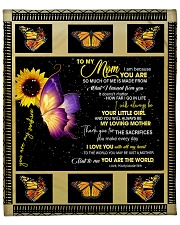 """To My Mom from Daughter - Butterfly- 02 Fleece Blanket - 50"""" x 60"""" front"""