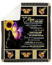 """To My Mom from Daughter - Butterfly- 02 Sherpa Fleece Blanket - 50"""" x 60"""" thumbnail"""