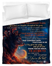 To My Mom from Daughter Wolf 3 Duvet Cover - Twin thumbnail