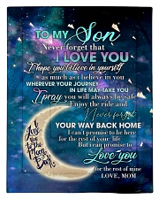 To My Son From Mom - Love you to the Moon Comforter - Twin thumbnail