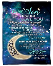 To My Son From Mom - Love you to the Moon Fleece Blanket tile
