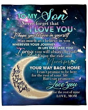 "To My Son From Mom - Love you to the Moon Fleece Blanket - 50"" x 60"" front"