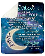 "To My Son From Mom - Love you to the Moon Sherpa Fleece Blanket - 50"" x 60"" thumbnail"