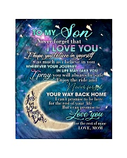 "To My Son From Mom - Love you to the Moon Quilt 40""x50"" - Baby thumbnail"
