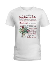 To My Dear Daughter -in-law from Mother-in-law Ladies T-Shirt thumbnail